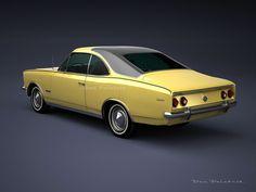 A Garagem Digital de Dan Palatnik Old Race Cars, Old Cars, Carros Vw, Chevy, Futuristic Cars, Unique Cars, Car Ford, Amazing Cars, Exotic Cars