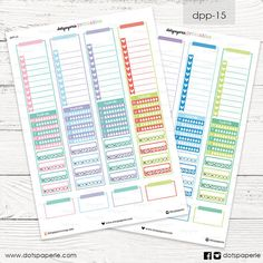DPP-15 | Side Bar Erin Condren Planner Stickers | Printables Sticker | For Filofax, Kikki K, Erin Condren, Mambi