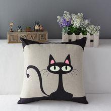 Gato de la historieta cojín cojines decorativos para el hogar sofá del asiento de coche, fundas de colchón coussin decoración emoji cojines almohada(China (Mainland))