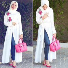 Casual and sporty hijab style – Just Trendy Girls Modest Fashion Hijab, Hijab Chic, Abaya Fashion, Modest Outfits, Fashion Outfits, Fashion Muslimah, Islamic Fashion, Muslim Fashion, Muslim Girls