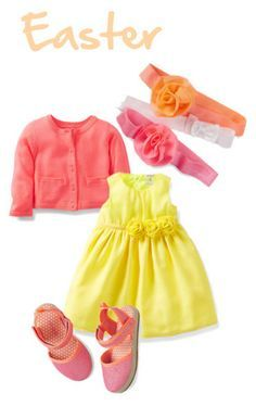 Perfect #CartersSpringStyle outfit for a bright and colorful holiday event.