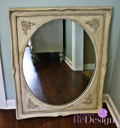 Painted and Antiqued Mirror