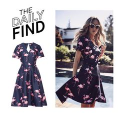 """""""The Daily Find: Draper James Dress"""" by polyvore-editorial ❤ liked on Polyvore featuring Draper James and DailyFind"""