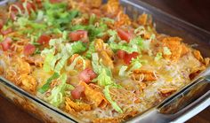 Chicken Taco Casserole ~ What we love most about this recipe is how easily customizable it is for your taste. Feel free to experiment by adding beans, corn, olives, chipotle tabasco sauce — you name it, get creative!