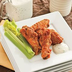 Super Bowl Appetizers | Spicy Buffalo Wings | SouthernLiving.com