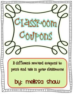 Fifth Grade Classroom Themes | 5th Grade Ideas / Classroom Coupons Freebie!