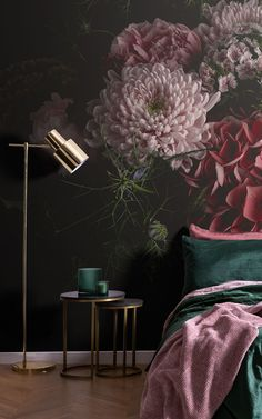 """We asked our store visitors in a survey, """"What type of style, theme, aesthetic, or mood are you trying to achieve in your home?"""" Below, 13 people tell us what their Dream Bedroom would look like – letting us in on their decor tastes, wallpaper choices, and how they want their bedroom to make them feel. We've brought their answers to life – creating their ideal bedroom spaces using some simple styling ideas that are easy to recreate. Read on to grab some great bedroom inspiration… World Map Wallpaper, Kids Wallpaper, Dark Wallpaper, Photo Wallpaper, Floral Pattern Wallpaper, Flower Wallpaper, Art Deco Bedroom, Dream Bedroom, Wallpaper Design For Bedroom"""