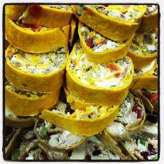 Pinwheel platter from Custom Menus at Reasonable Rates. Neighborhood Party, Georgetown Tx, Central Texas, Personal Chef, Wedding Catering, Pinwheels, Banquet, Platter, Menu