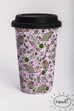 Quokka Travel Mug 15oz by nemki on Etsy