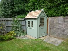 This Potting Shed is x and is finished in Woodland Green with a Cedar Shingle Roof Timber Garden Sheds, Garden Tool Shed, Garden Storage Shed, Backyard Sheds, Outdoor Sheds, Outdoor Greenhouse, Greenhouse Plans, Shed Exterior Ideas, Posh Sheds