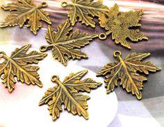 10BeadsLeaf Bronze Plated Brass Filigree Findings Metal by diygem