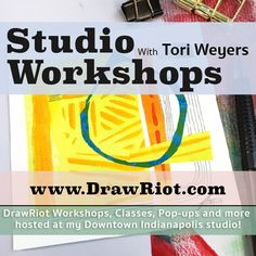 I am hosting my first IN PERSON Studio Workshop on Saturday September 23rd! If you are in Indianapolis I would love to have you there! Limited seats so jump on it! www.drawriot.etsy.com  IN PERSON - Studio Workshop Abstract Painted Paper Collage by drawriot on Etsy