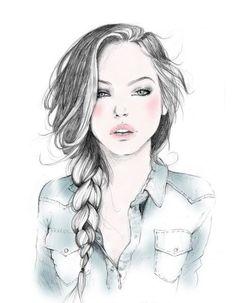 blogger drawing