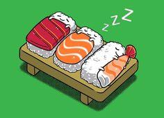 Le mercredi, c'est sushi !     Vous pouvez même les commander sur www.pizza.fr !