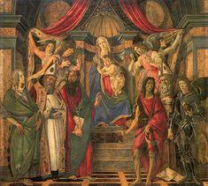 Sandro Botticelli-Pala di San Barnaba, 1488 circa, tempera su tavola, 268×280 cm, Firenze, Galleria degli Uffizi