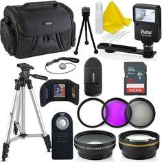 Professional 55MM Accessory Bundle Kit Nikon D3400 D5600 D3300 Pro Slave Flash #Professional55MMAccessory