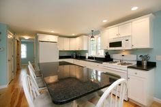 White Kitchens have become a standard in Cape Cod Homes, but many people may see white Kitchens as boring and plain. Description from info.capecodbuilder.com. I searched for this on bing.com/images