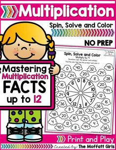 Mastering multiplication facts is such an important component to math fluency. This packet is hands-on, FUN, engaging and provides students with a meaningful way to help master basic multiplication facts from while having FUN! Multiplication Facts Practice, Math Facts, Multiplication Strategies, Math Resources, Math Activities, Third Grade Math, Second Grade, Math Groups, Math Words