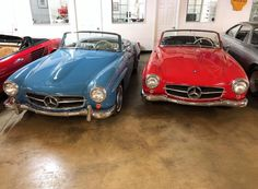 Blue or Red? COMMENT WITH AN EMOJI! 🔵🔴 A beautiful juxtaposition of two opposite ends of the color spectrum positioned side by side. Which color of the would you drive home in? Mercedez Benz, Classic Mercedes, Spectrum, Emoji, Car, Blue, Beautiful, Automobile, The Emoji