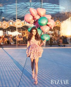 Mila Kunis in Harper's Bazaar April 2012; Brooklyn Bridge Park Carousel