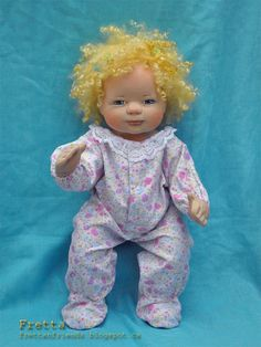 SALEFretta's OOAK Clay & Cloth Baby Doll by FrettasLovableDolls