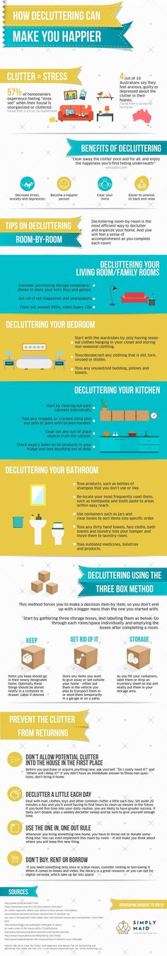 Declutter Your Home to Reduce Stress and Anxiety #Infographics