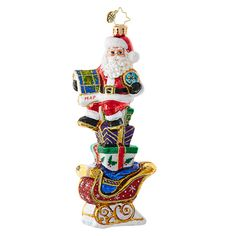 Christopher Radko Ornaments | Radko Santa Claus Need Directions! 1018862