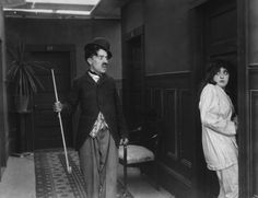 Charlie Chaplin and Mabel Normand in Mabel's strange predicament ...