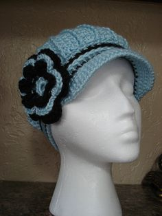 If you are serching for best results of classy hats so here you will find all type of classy hats as your desire. Enjoy these beautiful samples of classy hats. Crochet Newsboy Hat, Fancy Hats, News Boy Hat, Cloche Hat, Neck Warmer, Hats For Women, Blue Brown, Crochet Patterns, Classy