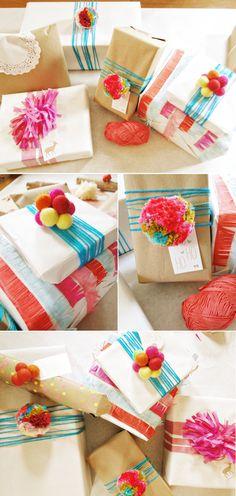 A Lovely Lark: Raid-Your-Craft-Stash Gift Wrap