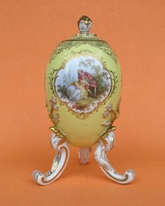 RARE Meissen Egg with Removable Lid Late 19th Century