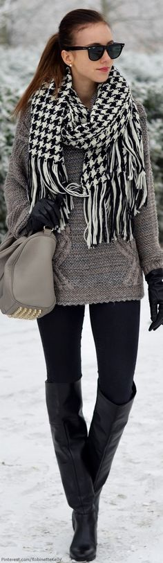 so easy to look stylish when you look at it Winter Street Style