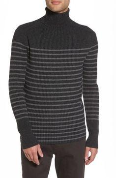 Shop Now - >  https://api.shopstyle.com/action/apiVisitRetailer?id=662216131&pid=uid6996-25233114-59 Men's Vince Regular Fit Breton Stripe Cashmere Turtleneck Sweater  ...
