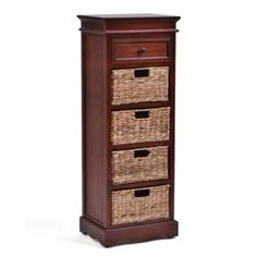 5-Drawer Brown Storage Chest