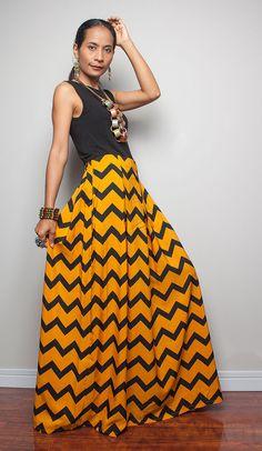 Floor Length Skirt  Printed Maxi Skirt  Feel Good by Nuichan, $52.00