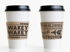 I've always loved coffee, and pay attention to coffee sleeves-but this one has a message way too good to pass up! Enjoy