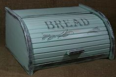 Shabby chic BREAD BOX BIN Distressed Wooden beech Rustic by old24
