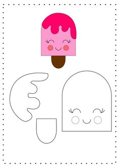- - - Useful Summer Crafts For Kids - Yarn Crafts Videos Hanging Felt Doll Patterns, Felt Crafts Patterns, Felt Crafts Diy, Felt Diy, Paper Crafts, Yarn Crafts, Preschool Crafts, Crafts For Kids, Felt Templates
