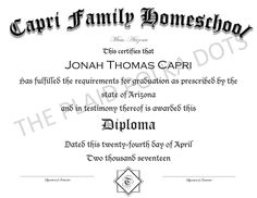 Homeschool High School Diploma by ThePlaidPolkaDots on Etsy Homeschool Diploma, Homeschool High School, High School Diploma, Sayings, Etsy, Lyrics, Quotations, Idioms, Quote