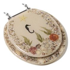 Check out the Comfort Seats Acrylic Round Toilet Seat in Seahorse with a Closed Front and Chrome Hinges Funny Toilet Seats, Corner Bathroom Vanity, Bathroom Vanities, Small Bathroom, Bathrooms, Wood Hinges, Plastic Hinges, Beautiful Ocean