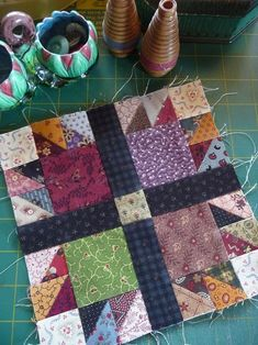 Scrappy bear claw (I think).  SQ Challenge Jan2014~Bear's Paw Quilt (7)