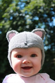 Mouse Hat, Norwegian Sweet Baby Cap / Djevellue by Gro