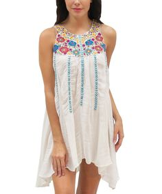 Caite Ivory Embroidered Rena Dress | zulily