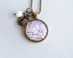 Map of Michigan Necklace  Custom Jewelry  by OxfordBright on Etsy