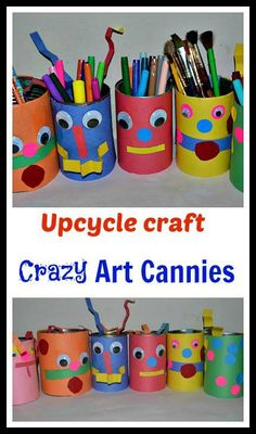 Let your kids learn to organize his things. Start by making these cute crafts that you can do as project together with them.