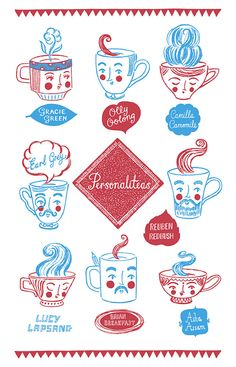 It's tea time with Personaliteas! Can you spot yourself on this award winning tea-towel design? #EtsyUK
