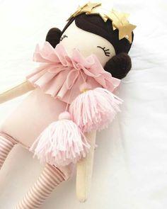 Little Miss Tippy Toes Pretty Dolls, Cute Dolls, Beautiful Dolls, Doll Crafts, Diy Doll, Child Doll, Baby Dolls, Handmade Soft Toys, Handmade Dolls