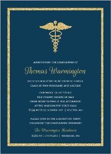 21 medical school graduation invitation wording ideas grad bold gold faux glitter medical school graduation invitation filmwisefo