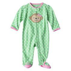 Newborn : Just One You™Made by Carter's® Newborn Girls' Polka Dot Monkey Sleep N' Play - Green