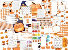 Jack-o-Lantern-Themed Halloween Printable Pack with 58 activities focused on skills such as shapes and colors, same vs. different, sorting / sequencing / categorizing, puzzles, mazes, fine motor, math, and literacy. Many of the activities have multiple versions so you can tailor the difficulty of the activity to your child's skill level.